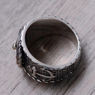 Men's Sterling Silver Anchor Ring