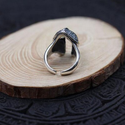 Men's Sterling Silver Spartan Helmet Ring