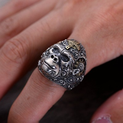 Men's Sterling Silver Gorilla Ring