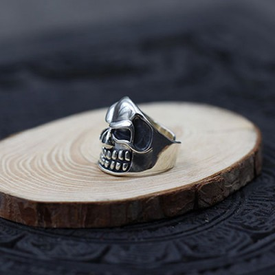 Men's Sterling Silver Monster Skull Wrap Ring