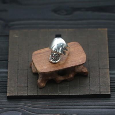 Men's Sterling Silver Eyeless Skull Wrap Ring