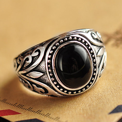 mens sterling silver black onyx ring jewelry1000com