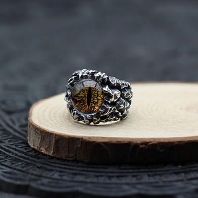 Men's Sterling Silver Eye Ring