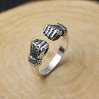 Men's Sterling Silver Fists Wrap Ring