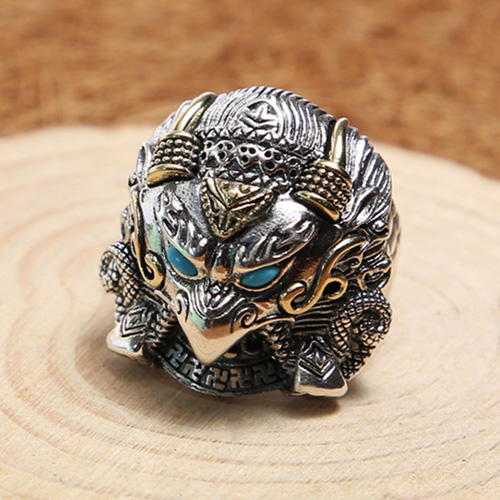 Men's Sterling Silver Native American Eagle Ring