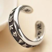 Men's Sterling Silver Six True Words Mantra Wrap Ring