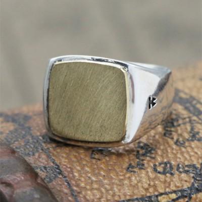 Men's Sterling Silver Signet Ring