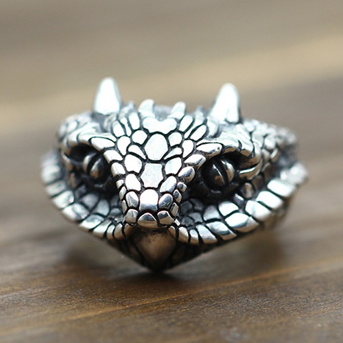 Men's Sterling Silver Cobra Wrap Ring