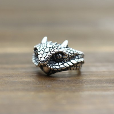 Men's Sterling Silver Cobra Wrap Ring