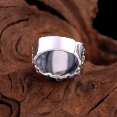 Men's Sterling Silver Fist Wrap Ring