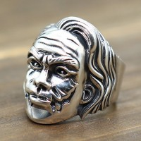 Men's Sterling Silver Clown Face Ring