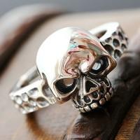 Men's Sterling Silver Skull Ring