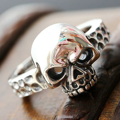 Men's Sterling Silver Skull Ring