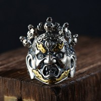 Men's Sterling Silver Mahākāla Ring