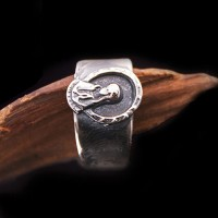 Men's Sterling Silver Praying Virgin Mary Ring