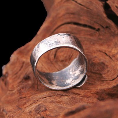 Men's Sterling Silver Praying Virgin Mary Ring