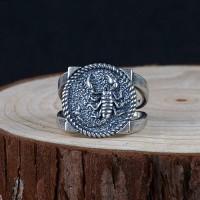 Men's Sterling Silver Scorpion Ring