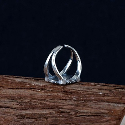 Men's Sterling Silver Scorpion Ring