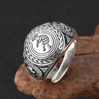 Men's Sterling Silver Totem Ring