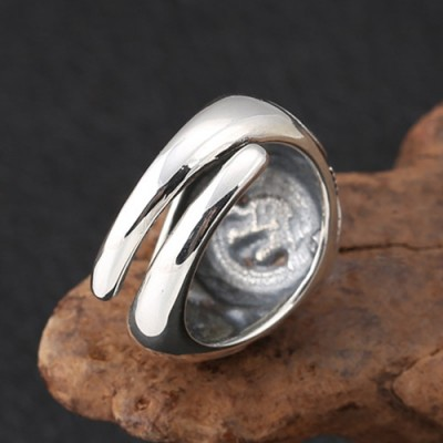 Men's Sterling Silver Totem Ring