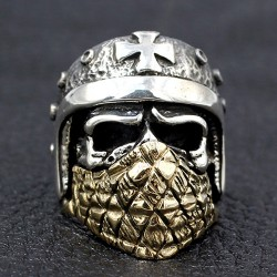 Men's Sterling Silver Iron Cross Rider Ring