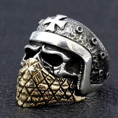 Men's Sterling Silver Iron Cross Rider Ring