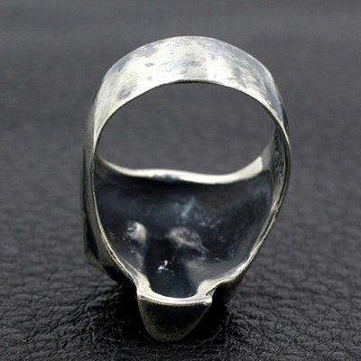 Men's Sterling Silver Grim Reaper Skull Ring