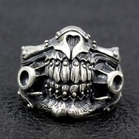Men's Sterling Silver Immortan Joe Mask Ring
