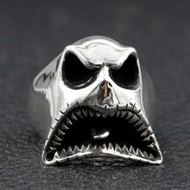 Men's Sterling Silver Ghost Skull Ring