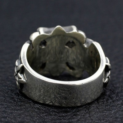 Men's Sterling Silver Iron Cross Ring