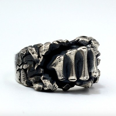 Men's Sterling Silver Fist Ring