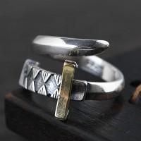 Men's Sterling Silver Sword Wrap Ring