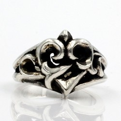 Men's Sterling Silver Ivy Heart Ring