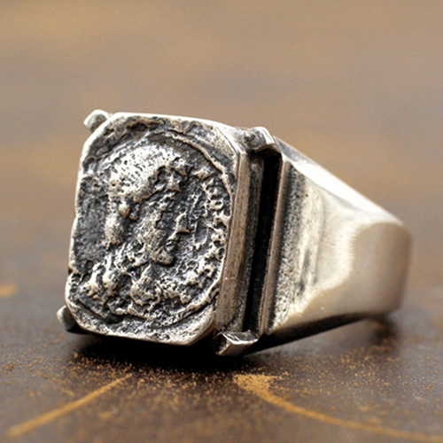 Men's Sterling Silver Bruce Lee Signet Ring