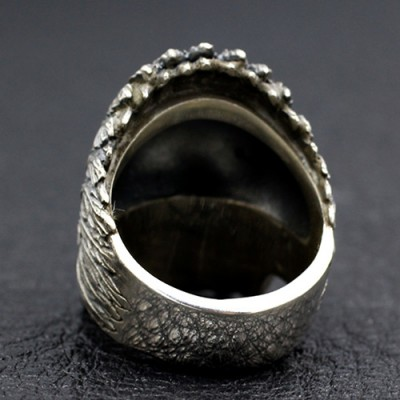 Men's Sterling Silver Native American Chief Ring