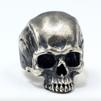 Men's Sterling Silver Buck Teeth Skull Ring