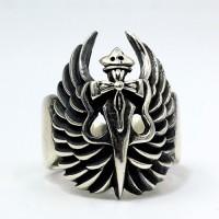 Men's Sterling Silver Angel Sword Ring