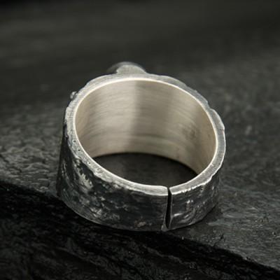 Men's Fine Silver Skull and Crossbones Ring