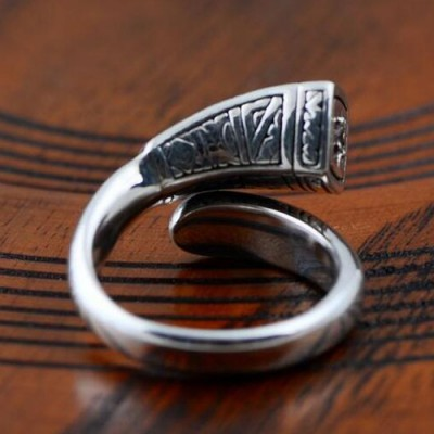 Sterling Silver Virgin Mary Wrap Ring