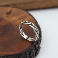 Sterling Silver Braided Wrap Ring