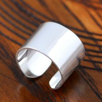 Sterling Silver Plain Wrap Ring