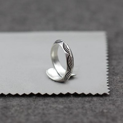 Sterling Silver Carved Wrap Ring