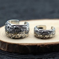 Sterling Silver Beast Wrap Ring