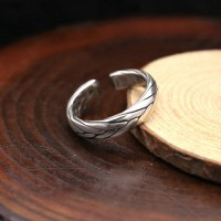 Sterling Silver Sleek Braided Wrap Ring