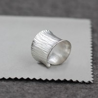 Sterling Silver Wavy Wrap Ring