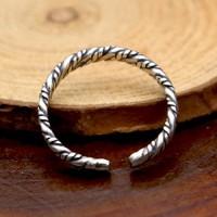 Sterling Silver Slim Braided Wrap Ring