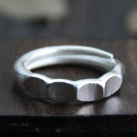 Fine Silver Hex Nut Wrap Ring
