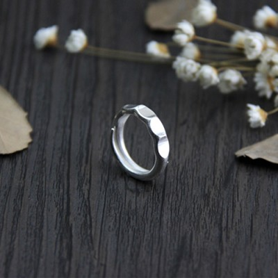 Fine Silver Hex Nut Wrap Ring