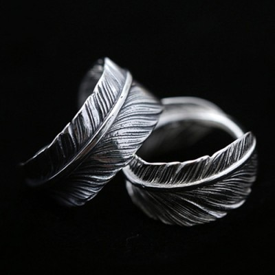 Sterling Silver Feather Wrap Ring