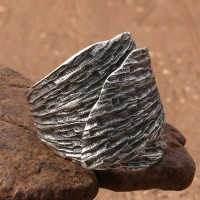 Sterling Silver Leaf Wrap Ring